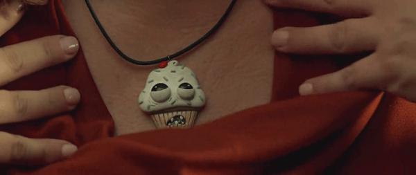 Spy-cupcake necklace