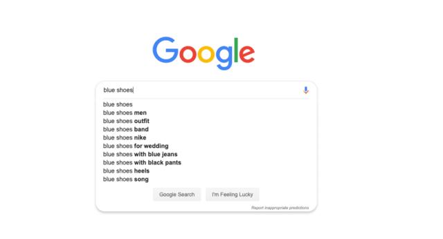 Suggerimento automatico di Google