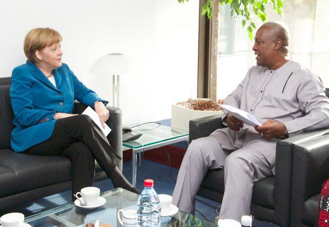 Angela Merkel and John Mahama