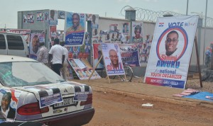 Posters of aspirants all over Tamele