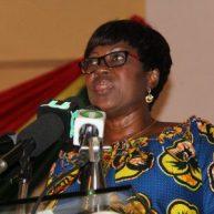 Transport Minister, Mrs Dzifa Attivor addressing the launch.
