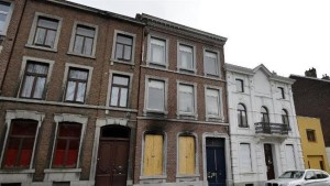The site where two suspected terrorists were killed by police in an anti-terrorist operation in Verviers, eastern Belgium, January 16, 2015. (AFP/Eric Lalmand)