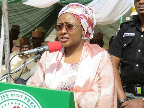 President Buhari Bans Aisha from APC campaigns , speaking to the press