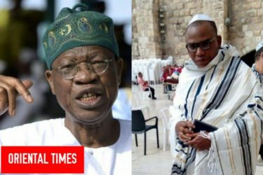 Nigeria Will Attack Israel With Chemical Weapon If They Fail To Deport Nnamdi Kanu In 24 Hours — Lai Mohammed