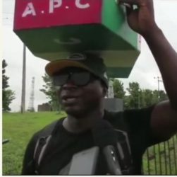 Man who trekked to celebrate Buhari victory, treks to Abuja with APC casket
