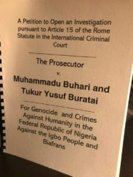 BREAKING NEWS: US lawyers submit names of Buhari, Buratai, others for trial at ICC
