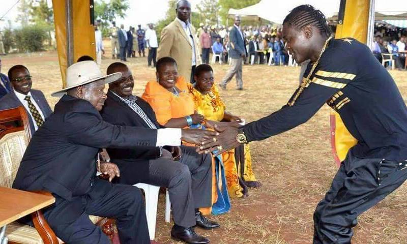 Image result for Jose Chameleone with Museveni
