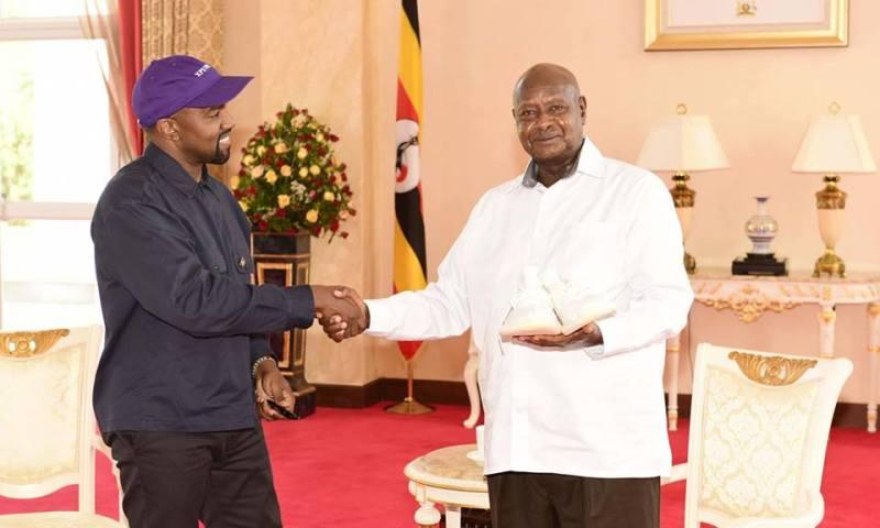 President Museveni Host Kanye West,Kim Kardashian At State House