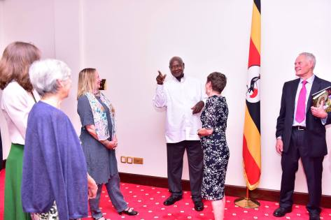 President Yoweri  Museveni  Hosts His Former  Ntare  School  Teachers  At State House