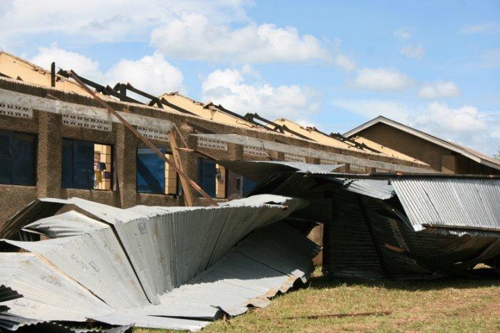 700 Pupils Stranded After Storm Destroys School