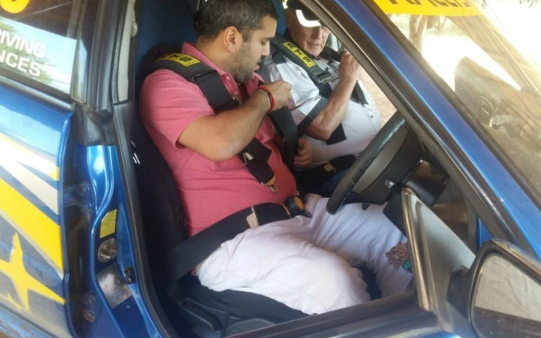 Rajiv Joins Rally School Ahead Of Competitive Debut, Trainer Botha Mesmerized At His Rallying Skills