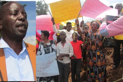 Christians Demonstrate After  Priest's Wife Closing Road  To Church