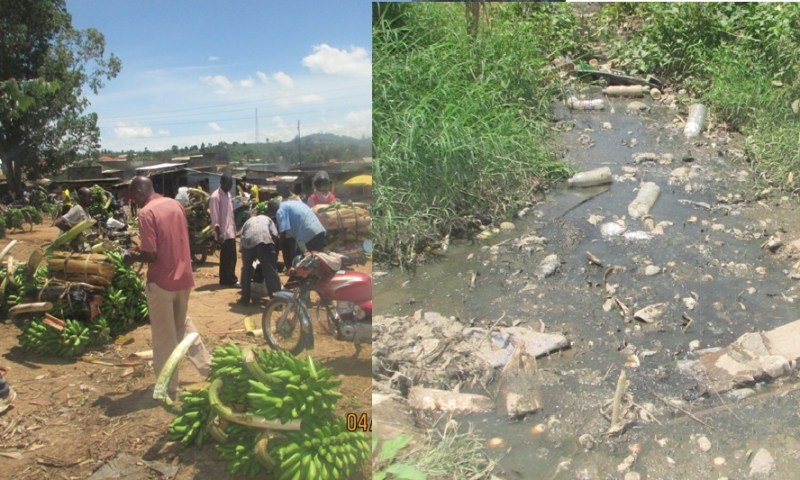 Kabwohe Market Flooded With Sewage!
