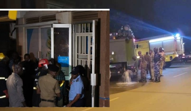 Police Investigate Fire Outbreak At Post Bank Entebbe