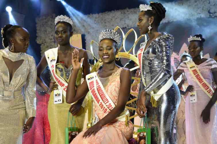 Miss Uganda Nakakande with First and Second Runners up