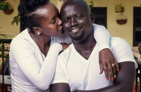 Anne Kansiime with Gerald Ojok before they split