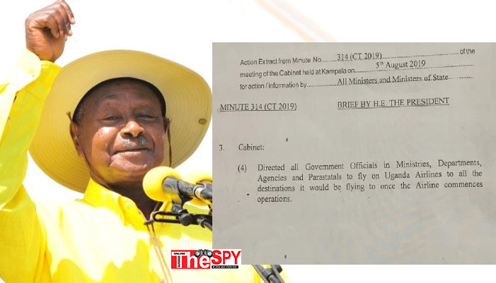 Museveni Directs All Civil Servants, Ministers And Gov't Officials To Fly Uganda Airlines