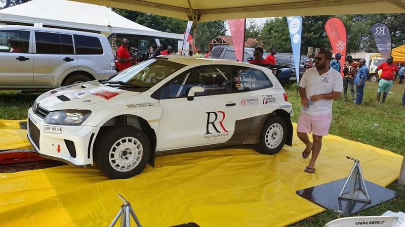 Rajiv Ruparelia with his rally car