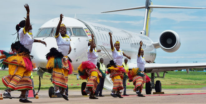 Uganda Airlines First Flight Takes Off From Entebbe