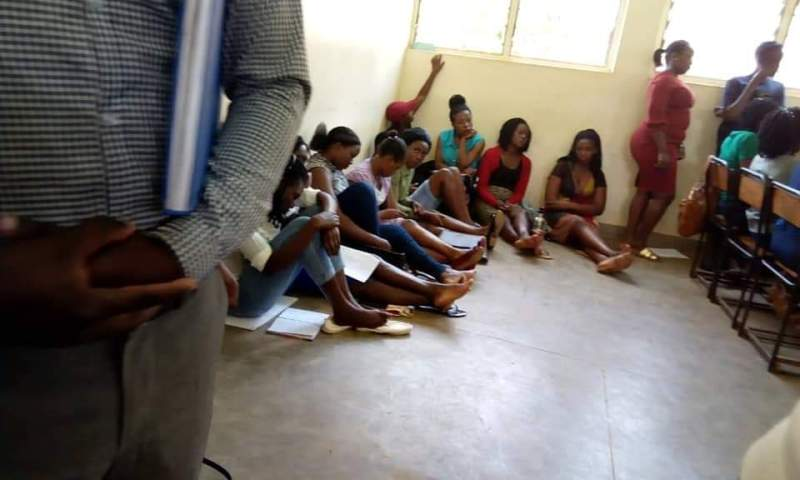 Shock As Kyambogo University Students Attend Lectures While Seated On Dirty Floor
