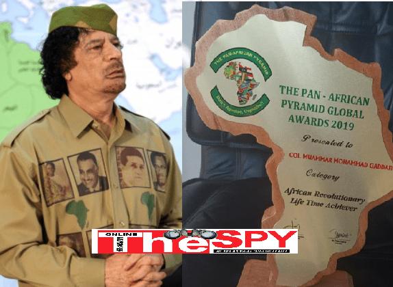Former Libyan Leader Gaddafi, Mukwano Scoop PAP GLOBAL AWARDS 2019