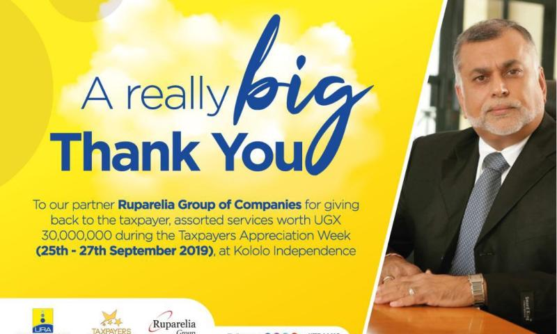 URA Lauds City Tycoon Sudhir For Bankrolling Taxpayers' Appreciation Week With Shs30m