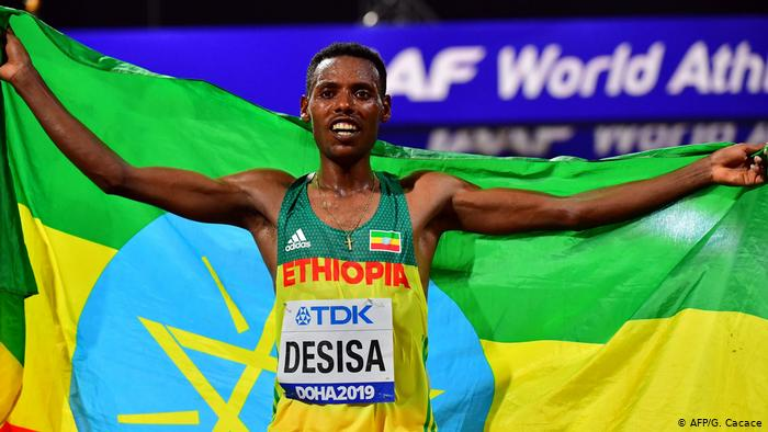 Ethiopia's Lelisa Wins First Ever Men's Marathon Since 2001 At IAAF