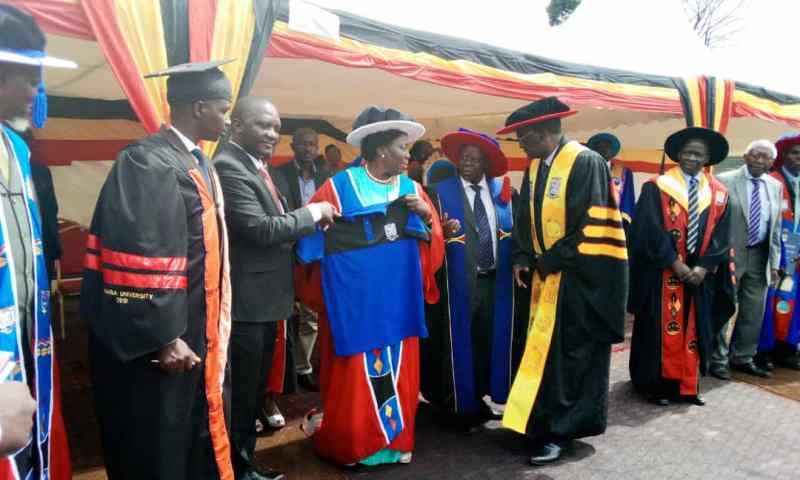 Nkumba University Awards Kadaga Honorary Doctorate Degree Of Law
