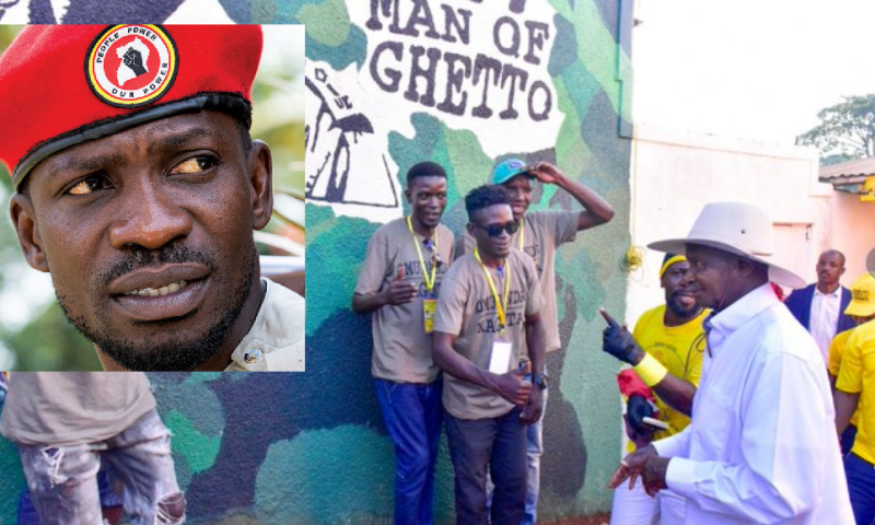 Bobi Wine,Museveni Fight For Ghetto Presidency!