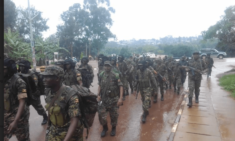 UPDF Armoured Commandos Mesmerize Masaka Residents With Deadly Military Tactics