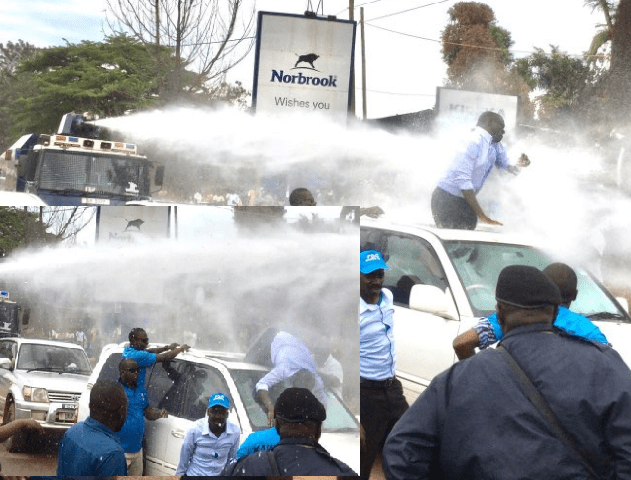 Scores Arrested As Police Battles Col. Besigye, FDC Supporters In Kireka