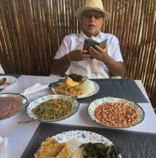 Tycoon  Sudhir  Savours Local Ugandan Dishes