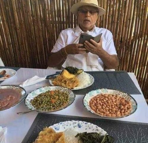 Tycoon  Sudhir  Savours Local Ugandan Dishes