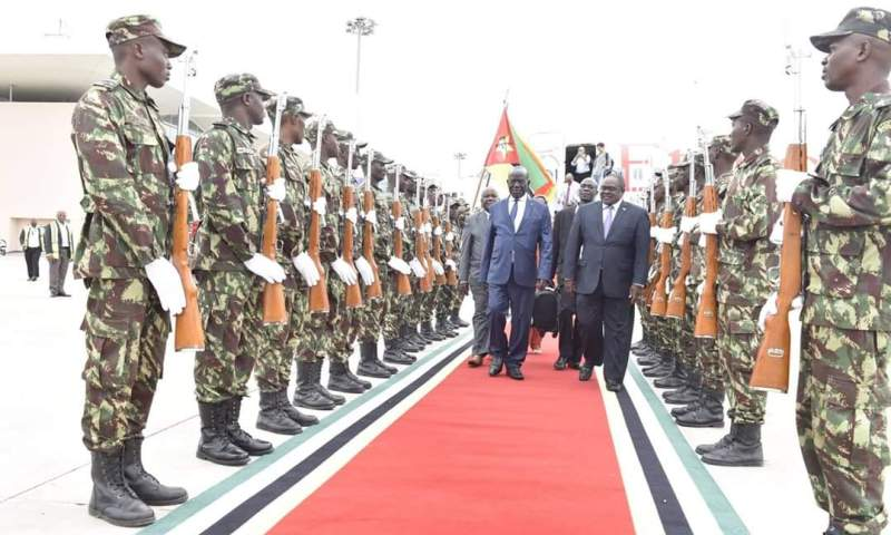 VP Sekandi In Mozambique For Newly Elected President Nyusi's Swearing-In Ceremony