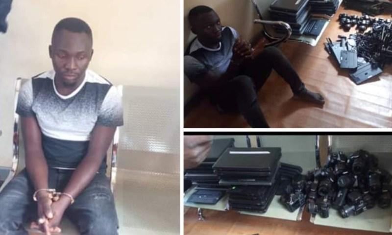 Police Arrest Suspected Thief With 28 Stolen NIRA Cameras, 18 Laptops