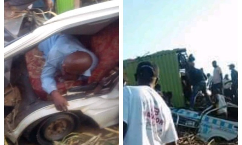 5 Passengers Perish After Sugarcane Truck Rams Into Taxi