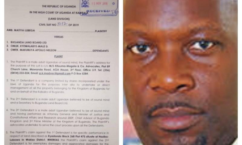 Bank Of Uganda Lawyer Sued For Grabbing Land Belonging To Kabaka Mutebi's Blue-eyed Boy