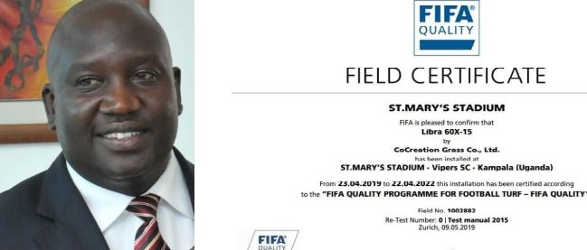 Tycoon Mulindwa Jubilates After FIFA Certifies St. Mary's Stadium