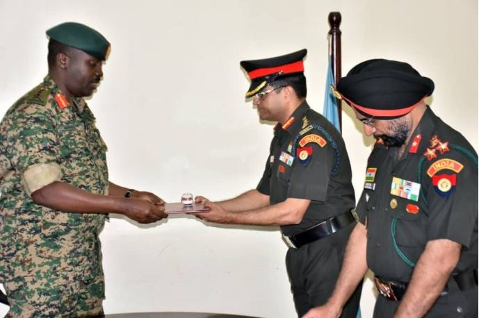 UPDF Awards Indian Military Officers For Training Ugandan Military
