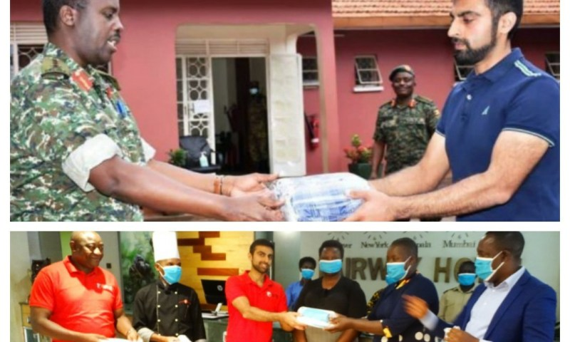 Fairway Hotel Donates 2000 Masks To UPDF, KCCA COVID-19 Front Line Teams