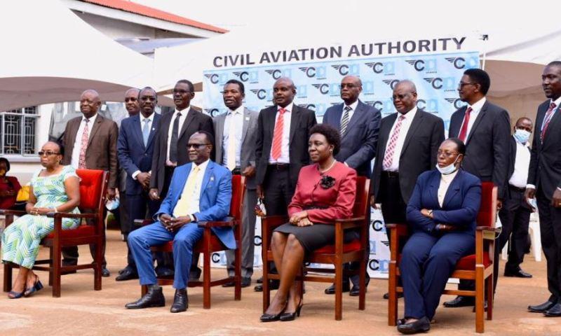 Works Min. Gen. Katumba Inaugurates New UCAA Board