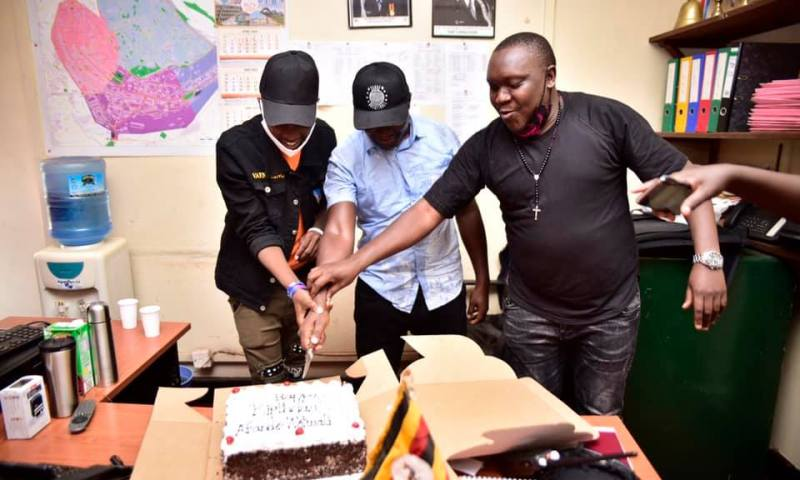 Sanyu Fm Staff Surprise CPS Commander Ronald Wotwali With A Lavish Birthday Celebration