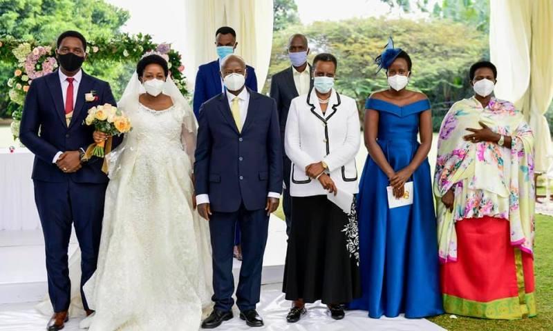 Museveni Teaches 'Mama Corona' COVID-19 Morals, Attends 14 Guests Wedding