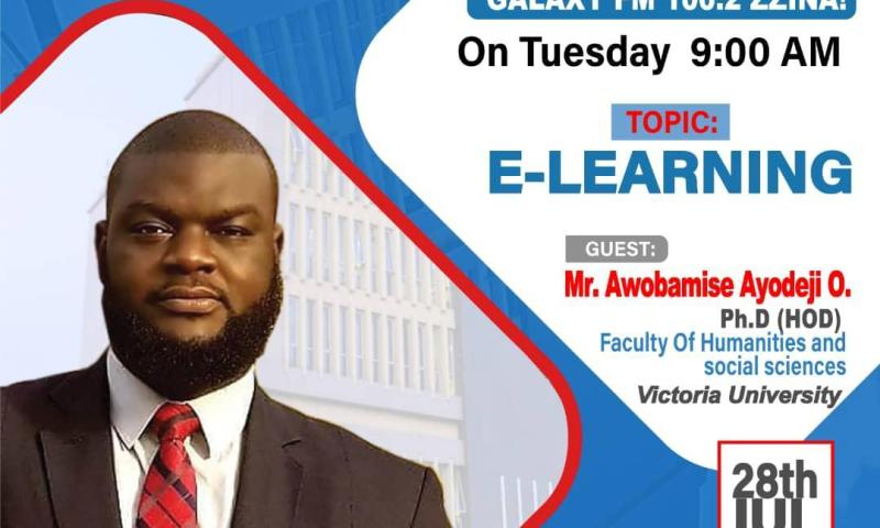 Victoria University Lecturer Ayodeji Tips Students On Basics Of E-Learning Amidst COVID-19