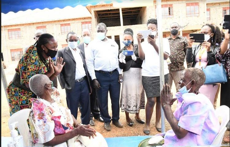 Bukomansimbi Elderly Persons Elated After Receiving SAGE Payments