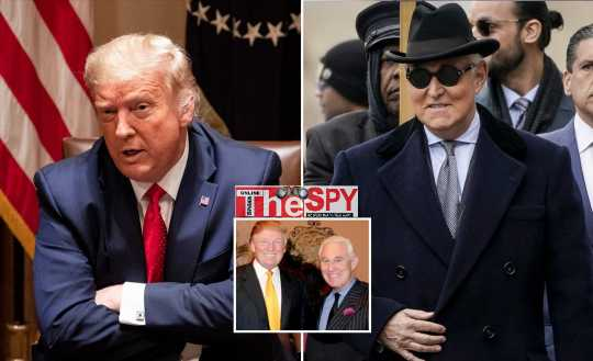 Trump Commutes 3yrs Sentence Of His Spy Roger Stone Ahead Of Elections