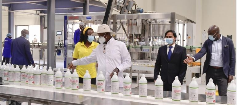 President Museveni Commissions 7 More Factories Despite COVID-19 Lockdown