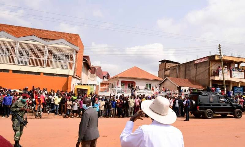 Museveni Pledges Re-building St.Peter's Church After Visiting Site Amidst Huge Gathering