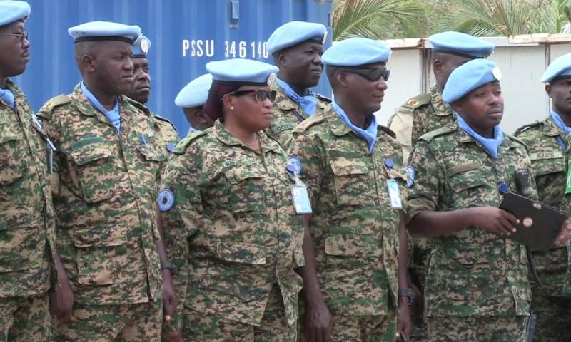 Gen Elwelu Flags Off Uganda's Seventh United Nations Guard Unit To Somalia To 'Wipeout' Al-Shabab