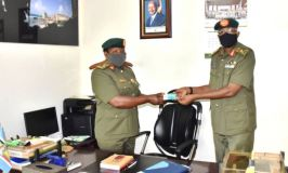 Brig. Gen. Karemire Hands Over Office To New UPDF Spokesperson Brig. Gen. Byekwaso